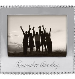 "Mariposa ""Remember This Day"" Beaded Frame"