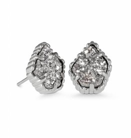 Kendra Scott Design Tessa Silver Stud Earrings in Platinum Drusy