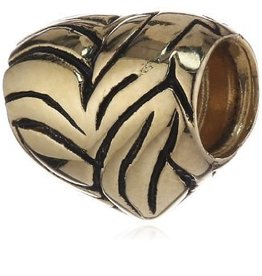 Gold Heart Bead 50% OFF