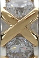 Silver & Gold XO Bead 50% OFF