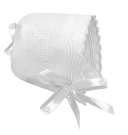 Keepsake Bonnet, Scallop Edge, White