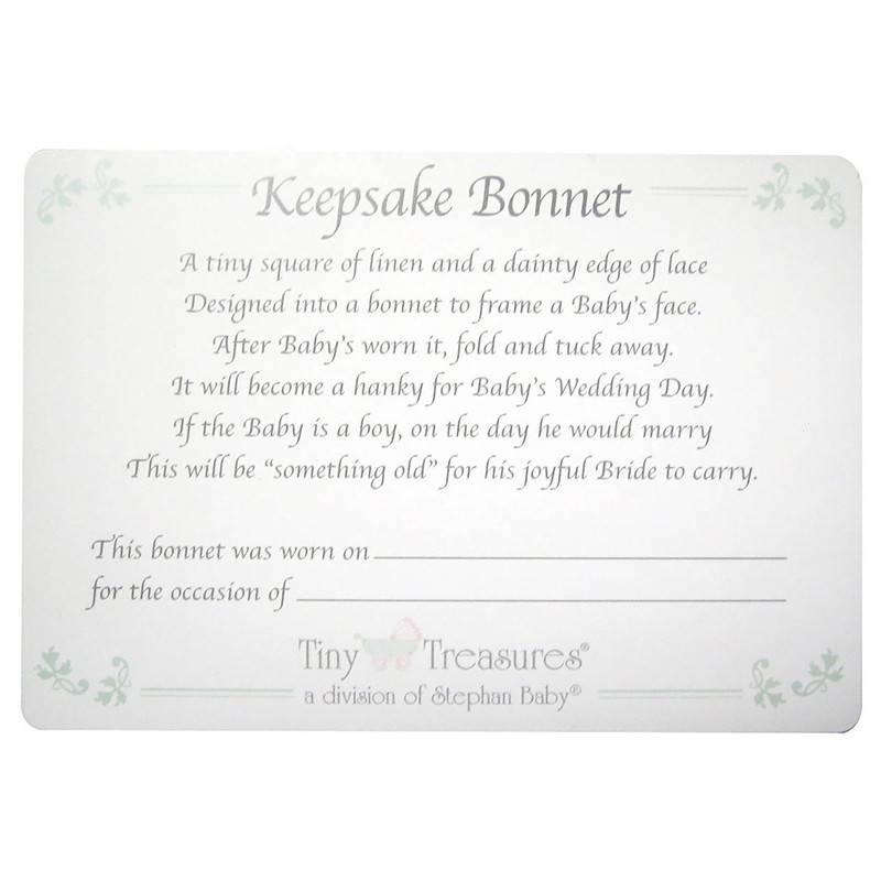 Keepsake Bonnet, Scallop Edge, White