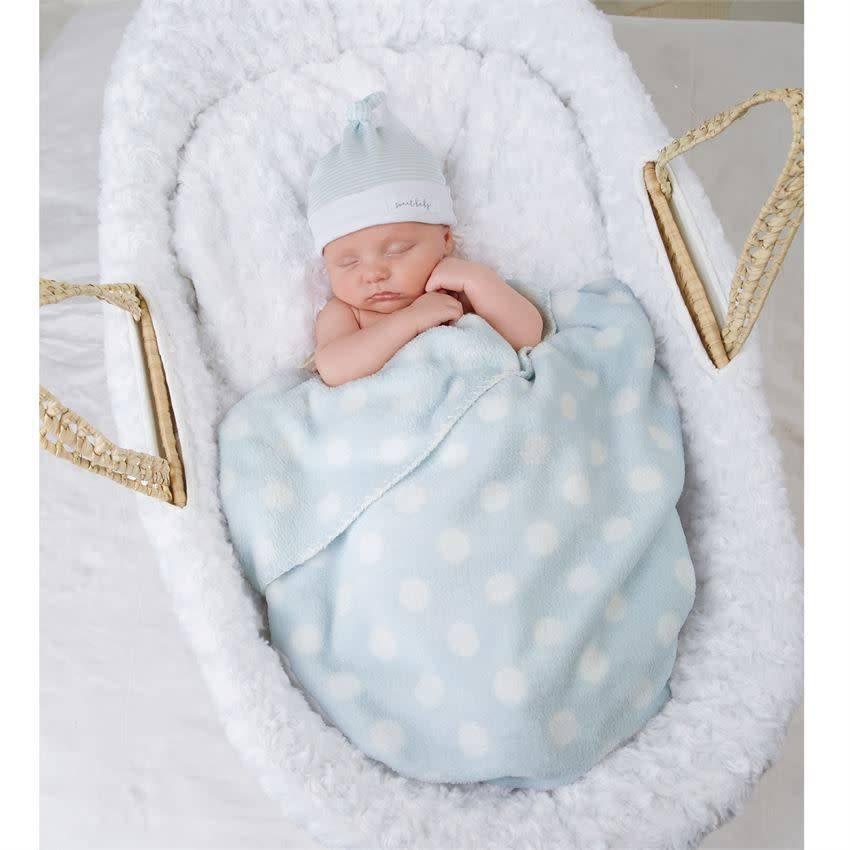Mud Pie Blanket/Hat Set, Sweet Baby, Blue