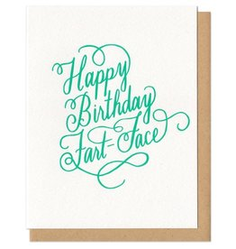 Birthday cards home frog toad press happy birthday fart face greeting card m4hsunfo