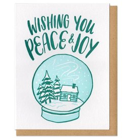 Frog & Toad Press Wishing You Peace & Joy Greeting Card