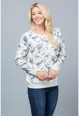 LA Soul All Over Bird Print Sweatshirt