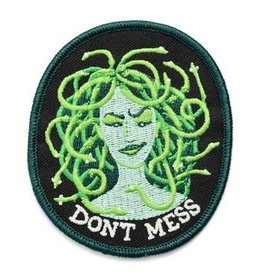"""Frog & Toad Press Don't Mess"""" Medusa Patch"""