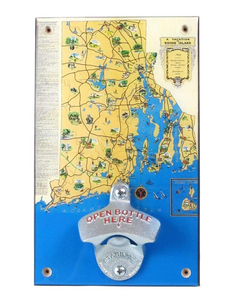 Frog & Toad Design RI Vacation Map Bottle Opener