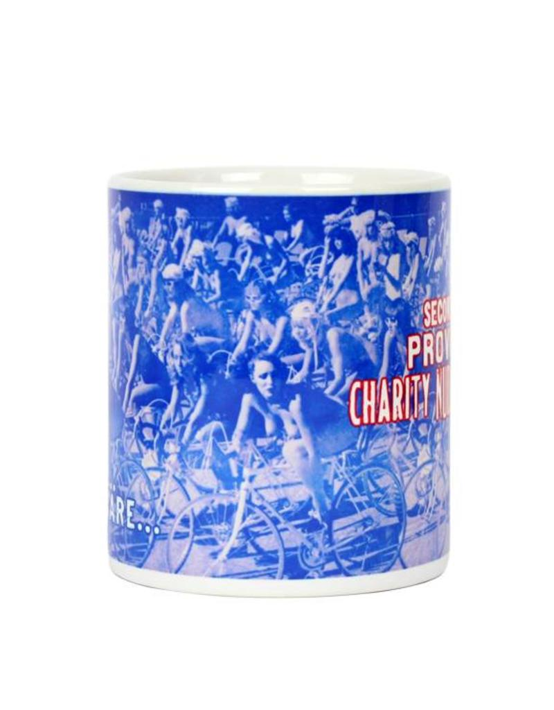 "Frog & Toad Design Providence's ""Charity Nude Bicycle Race"" Mug"