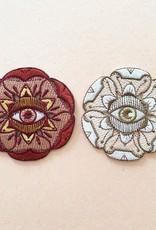 Paper Shuttle Eye Flora Patch - White