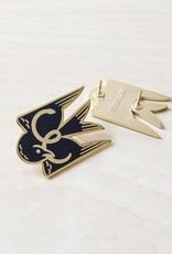 Paper Shuttle Early Bird Enamel Pin