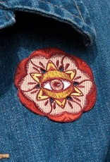 Paper Shuttle Eye Flora Patch - Red