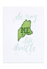 1Canoe2 Letterpress Maine Letterpress Print