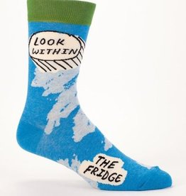 Blue Q Look Within Fridge Men's Crew Socks
