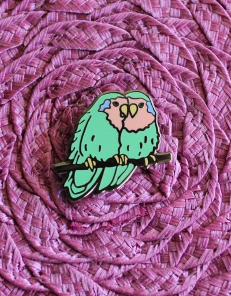 Shiny Apple Studio Lovebirds Enamel Pin