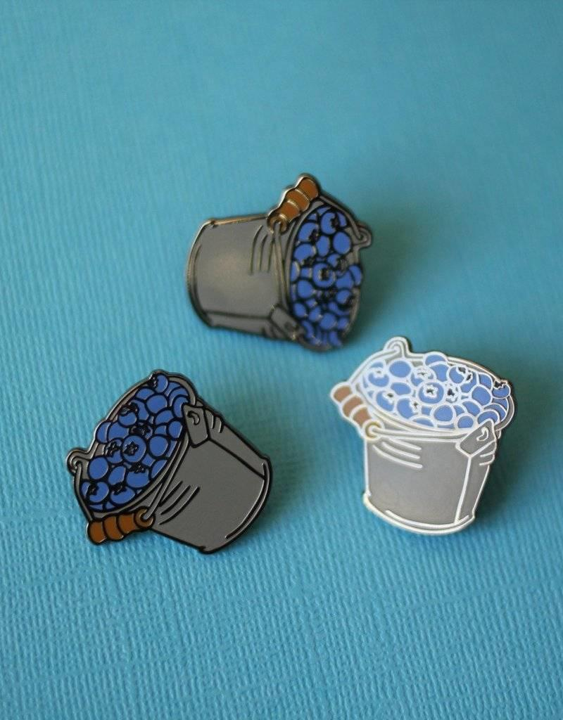 Shiny Apple Studio Blueberry Bucket Enamel Pin