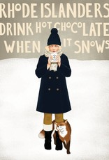 Alayna Paquette Rhode Islanders Drink Hot Chocolate Print