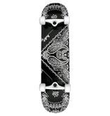 Punked Bandana Complete Black Skateboard