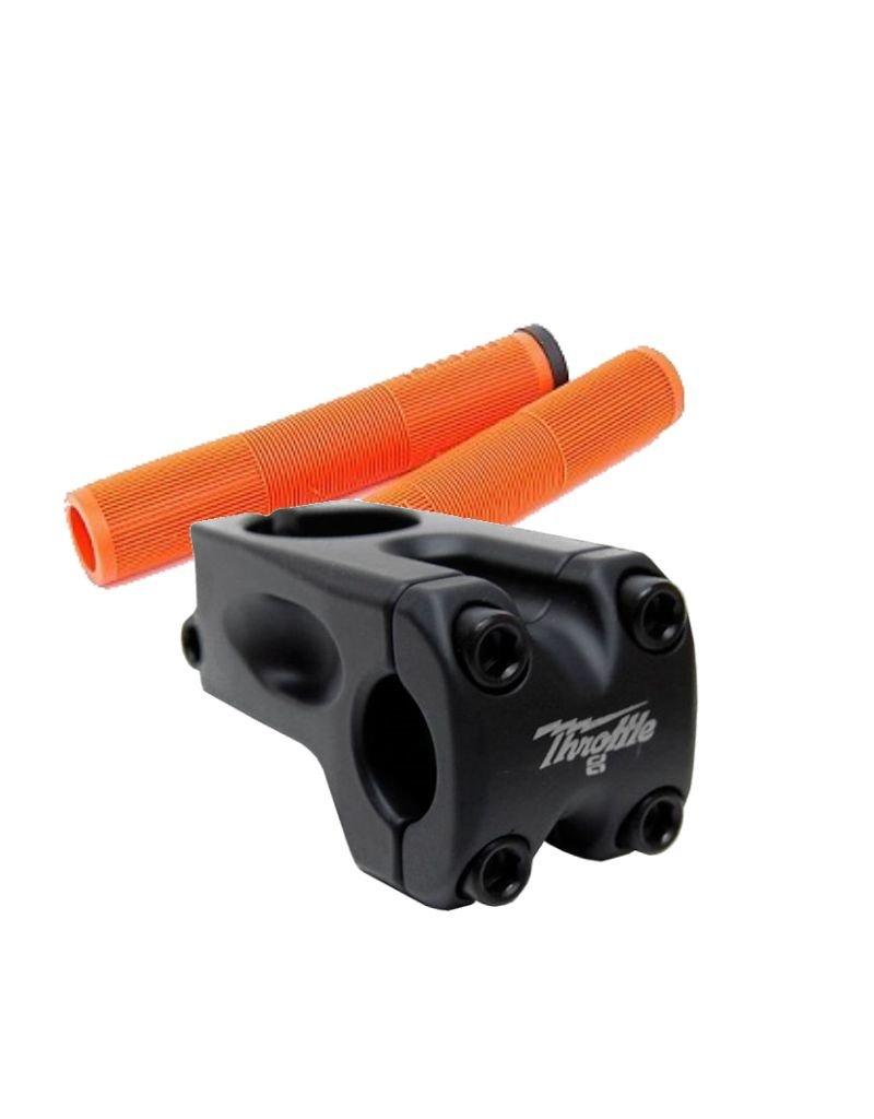 Cult Dehart Grips Orange + Throttle Frontload Black