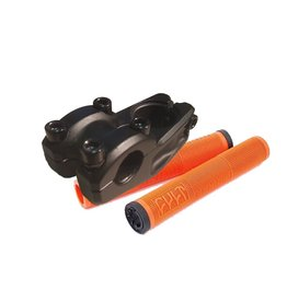 Cult Dehart Grips Orange + Top Load Stem Black