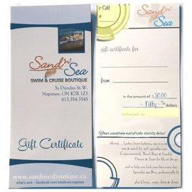 Sand'n'Sea e-gift $50