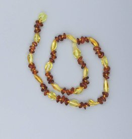 "Lemon Vines 11"" Amber Necklace"