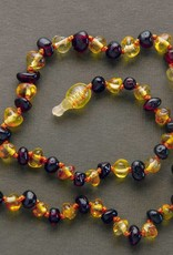 "Lemon Vines 12.5"" Amber Necklace"