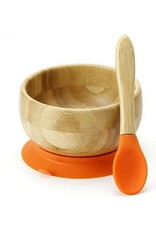 Avanchy Avanchy Bamboo Stay Put Suction Baby Bowl + Spoon