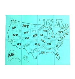 SiliKids/GoSili Placemat Folding Map