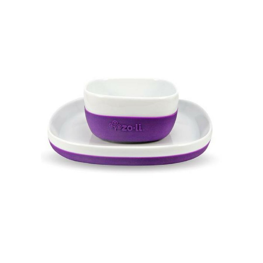 Zoli Nosh Ceramic Bowl+Plate
