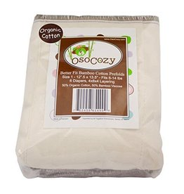 OzoCozy Better Fit Bamboo Prefold 6 Pack