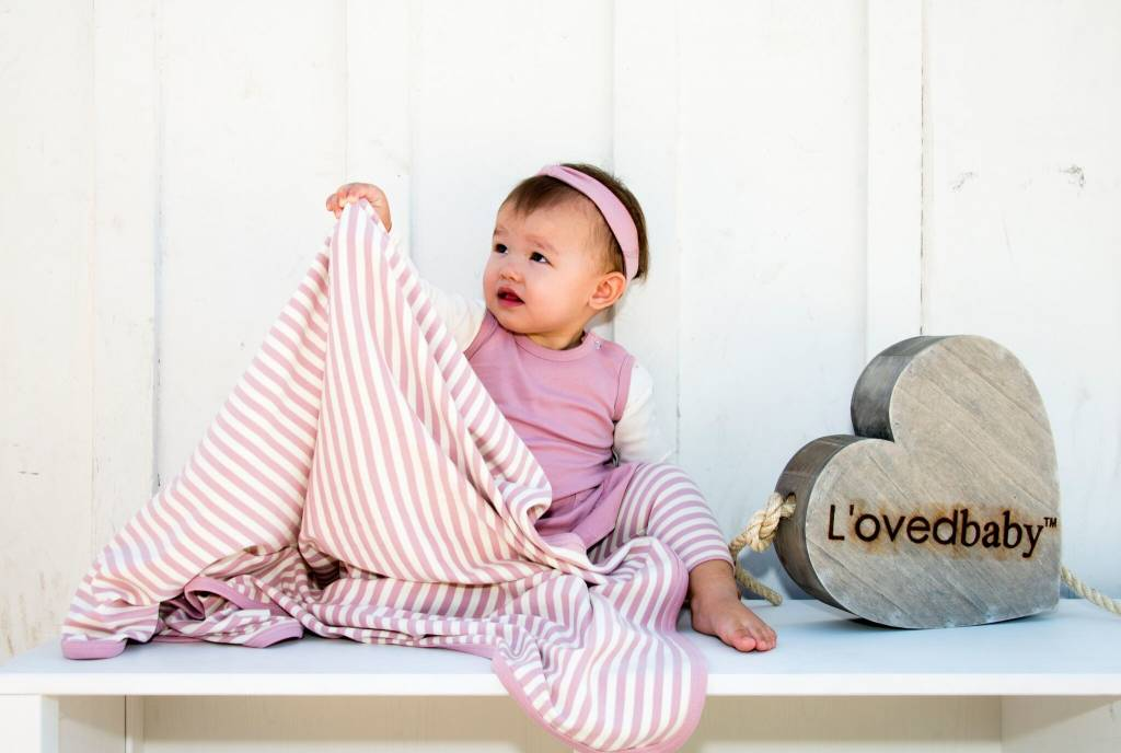 Loved Baby L'oved Baby Organic Swaddling Blanket Striped
