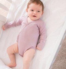 Loved Baby Organic Long-Sleeve Kimono Bodysuit Solid