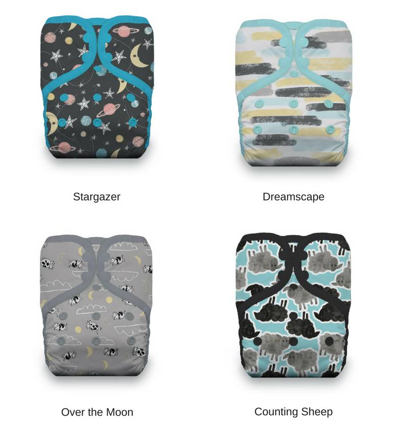Thirsties Thirsties One Size Pocket Diaper Snap Prints