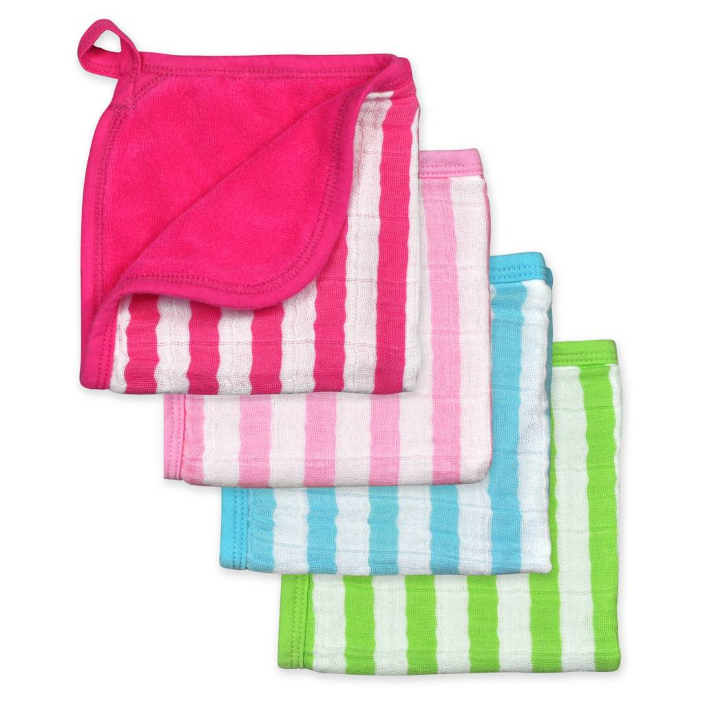 Green Sprouts Muslin Washcloths 4-pack