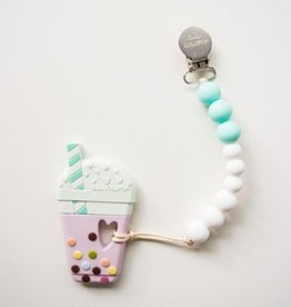 LouLouLollipop Bubble Tea Teether + Holder