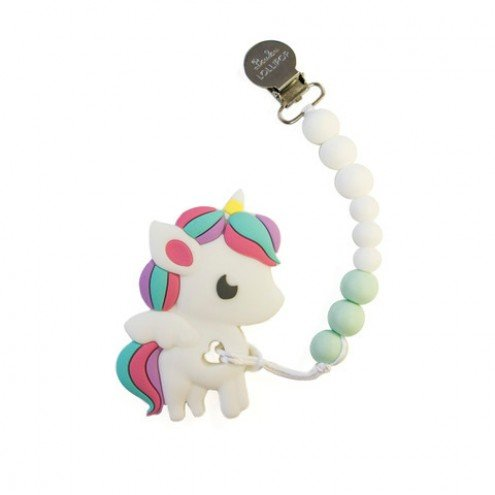 LouLouLollipop Rainbow Unicorn Teether + Holder