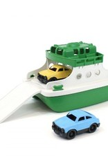 Green Toys Ferry Boat Green/White w/ Mini Cars