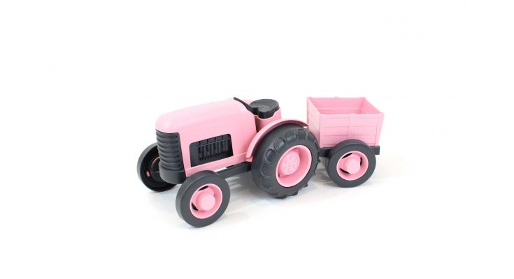 Green Toys Tractor Pink