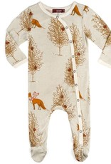 Milkbarn Holiday 2018 Bamboo Footed Romper