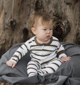 Loved Baby Organic Footed Overall Striped