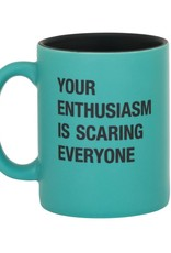 About Face Designs Enthusiasm Mug