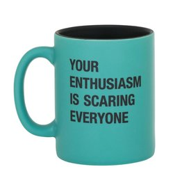 About Face Designs Enthusiasm Mug