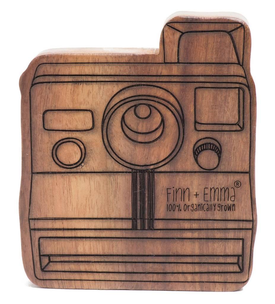 Finn + Emma Wooden Teether Rattle