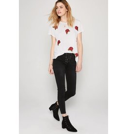 Amuse Society Embroidered Roses Tee