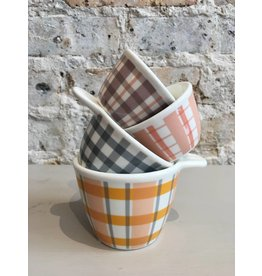 Creative Co-Op Farm Plaid Measuring Cup Set