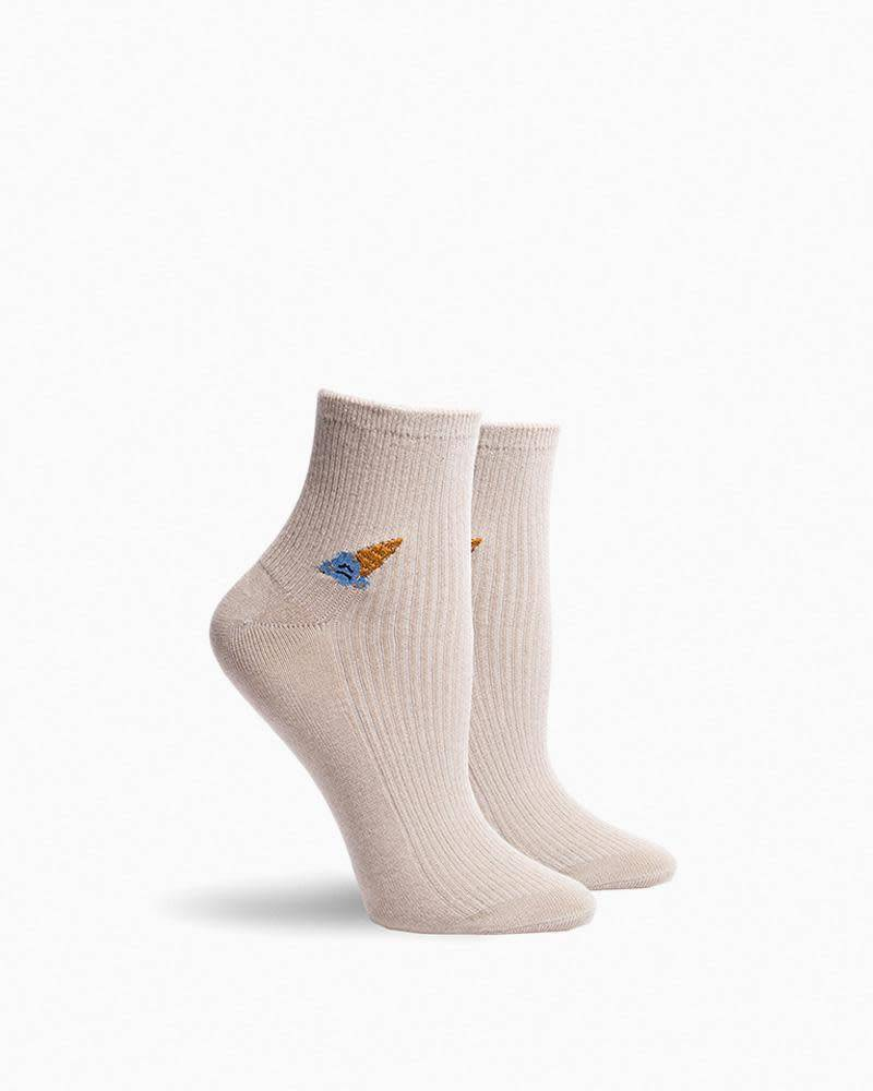 Richer Poorer Sad Ice Cream - Coney Women's Socks