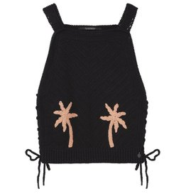 Scotch & Soda Poolside Palm Crocheted Tank