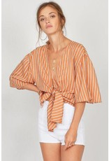 Amuse Society Knot Your Girl Woven Top