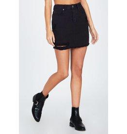 Amuse Society Shortcut Denim Skirt